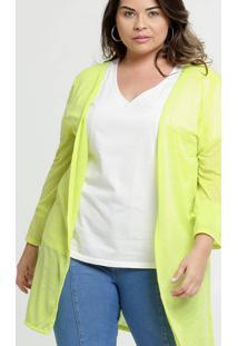 Capa Feminina Neon Alongada Plus Size Marisa