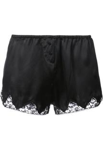 Morgan Lane Short De Pijama Com Renda - Preto