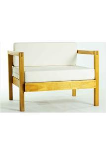 Sofá 01 Lugar Componível Com Almofada Lazy Stain Amarelo - Mão & Formã