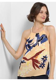 Blusa Lez Lez Tecido Rayon Bali G Veuelo Feminina - Feminino-Colorido