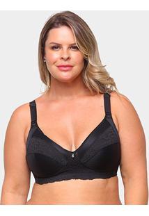 Sutiã Dilady Plus Size Anatômico - Feminino-Preto
