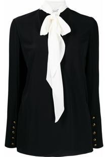 Givenchy Blusa Com Detalhe De Laço Na Gola - Preto