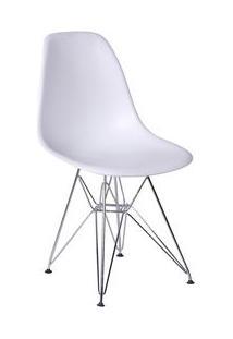 Or Design Jogo De Cadeiras Eames Dkr Branco & Prateado 2Pã§S