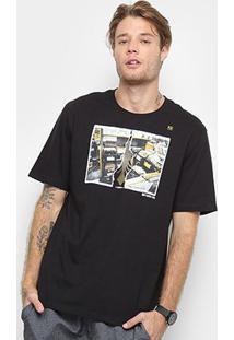 Camiseta Cavalera Sebodiscos Masculina - Masculino-Preto