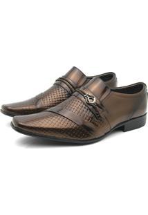 Sapato Social Venetto Prince Verniz Cedro