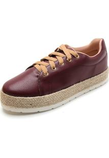 Tênis Sola Alta Dafiti Shoes Espadrille Vinho