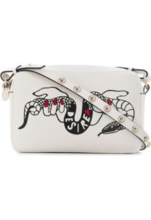 Red Valentino Red(V) Desire Print Crossbody Bag - Branco