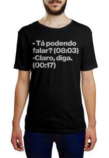 Camiseta Hunter Ta Podendo Falar Preta