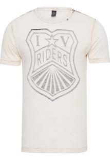 Camiseta Masculina Riders - Bege