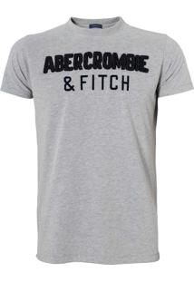 Camiseta Abercrombie & Fitch Masculina Muscle Cinza