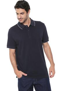 Camisa Polo Richards Reta Piquet Holt Azul-Marinho