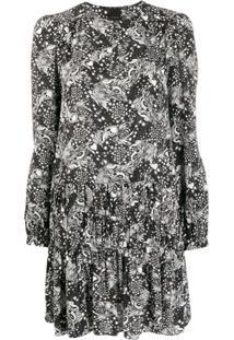 Pinko Vestido Estampado - Preto
