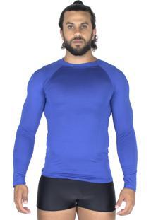 Camisa Bravaa Modas Térmica 037 Azul