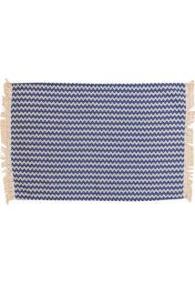Tapete De Cozinha Campestre Algodão 150X50 Azul