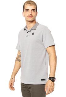 Camisa Polo Oakley Reta Elevated Basic 2.0 Cinza