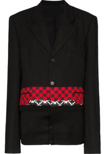 Haider Ackermann Checked Knitted Blazer - Preto