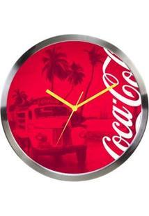 Relógio De Parede Coca Cola Moderno Vermelho