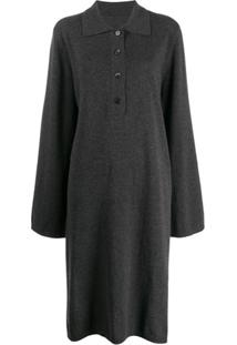 Maison Margiela Suéter Polo Oversized - Cinza