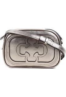 Bolsa Capodarte Mini Bag Logo Relevo Feminina - Feminino-Grafite