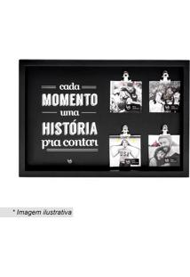 "Painel De Fotos ""História""- Preto & Branco- 24X35X35Ludi"
