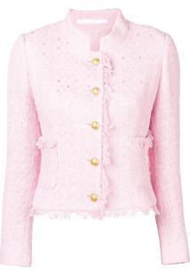 Tagliatore Fitted Tweed Jacket - Rosa
