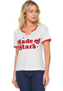 Camiseta Fiveblu Made Star Branca
