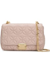 Michael Michael Kors Sloan Floral Quilted Shoulder Bag - Rosa