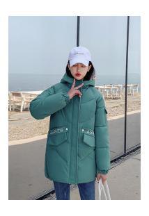 Jaqueta Diamond Long Feminina - Verde E Branca