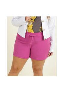 Short Plus Size Feminino Textura Amarração