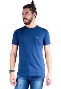 Camiseta Mister Fish Gola Careca Basic Marinho