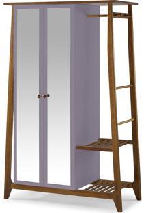 Armário Multiuso 2 Portas Stoka 982 Nogal/Lilás - Maxima