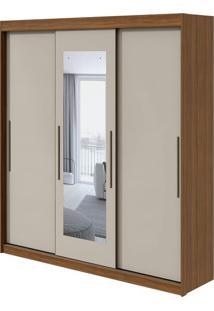 Guarda Roupa Aquarius 3 Portas Com Espelho Rovere Naturale/Off White