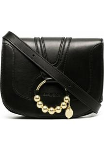 See By Chloé Embellished Leather Crossbody Bag - Preto