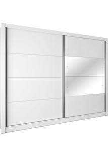 Guarda Roupa Flórida 2,74M 2 Portas Com Espelho Neve