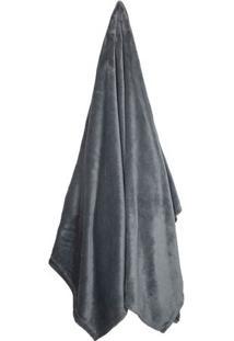 Cobertor Velour De Casal- Cinza Escuro- 180X220Cm