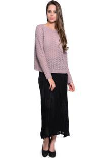 Blusa Charme Tricot Londres Rosa - Rosa - Feminino - Dafiti
