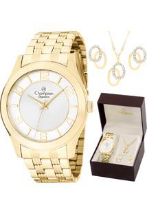d2cb3908c00b8 Eclock. Relógio Feminino Magnum Champion Clock Dobrável Analógico Com Colar  Kit Brincos ...
