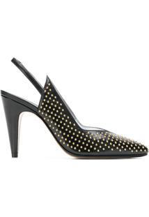 Givenchy Scarpin De Couro Com Tachas - Preto
