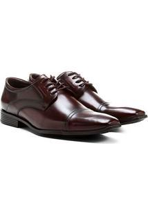 Sapato Social Shoestock Couro Recorte Biqueira - Masculino