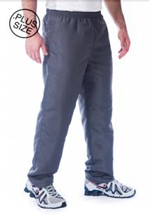 Calça Tactel Plus Size Butu Biru Microfibra Cinza