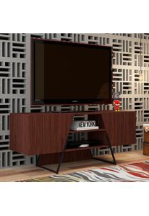 Rack Para Tv Brooklyn Br 377 Castanho/Preto - Brv Móveis