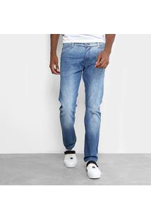 Calça Jeans Reta Gangster Estonada Masculina - Masculino