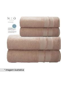 Toalha De Rosto Neo Allure- Rosa- 45X80Cm- Camescamesa