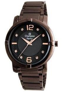 Relógio Feminino Champion Analógico Elegance - Cn25252R - Feminino-Marrom