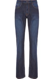 Calça Masculina Jeans Straight - Azul