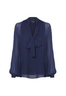 Blusa Feminina Laço Melissa - Azul