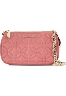 Michael Michael Kors Md Chain Clutch Bag - Rosa