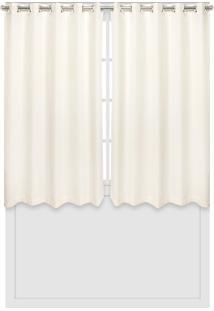 Cortina Bella Janela Duplex 3,00X1,70M Chiffon Off-White