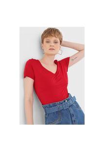 Blusa Cantão Lisa Vermelha