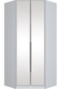 Guarda-Roupa Canto Closet 2 Portas Exclusive Branco Hp M122-05 Henn